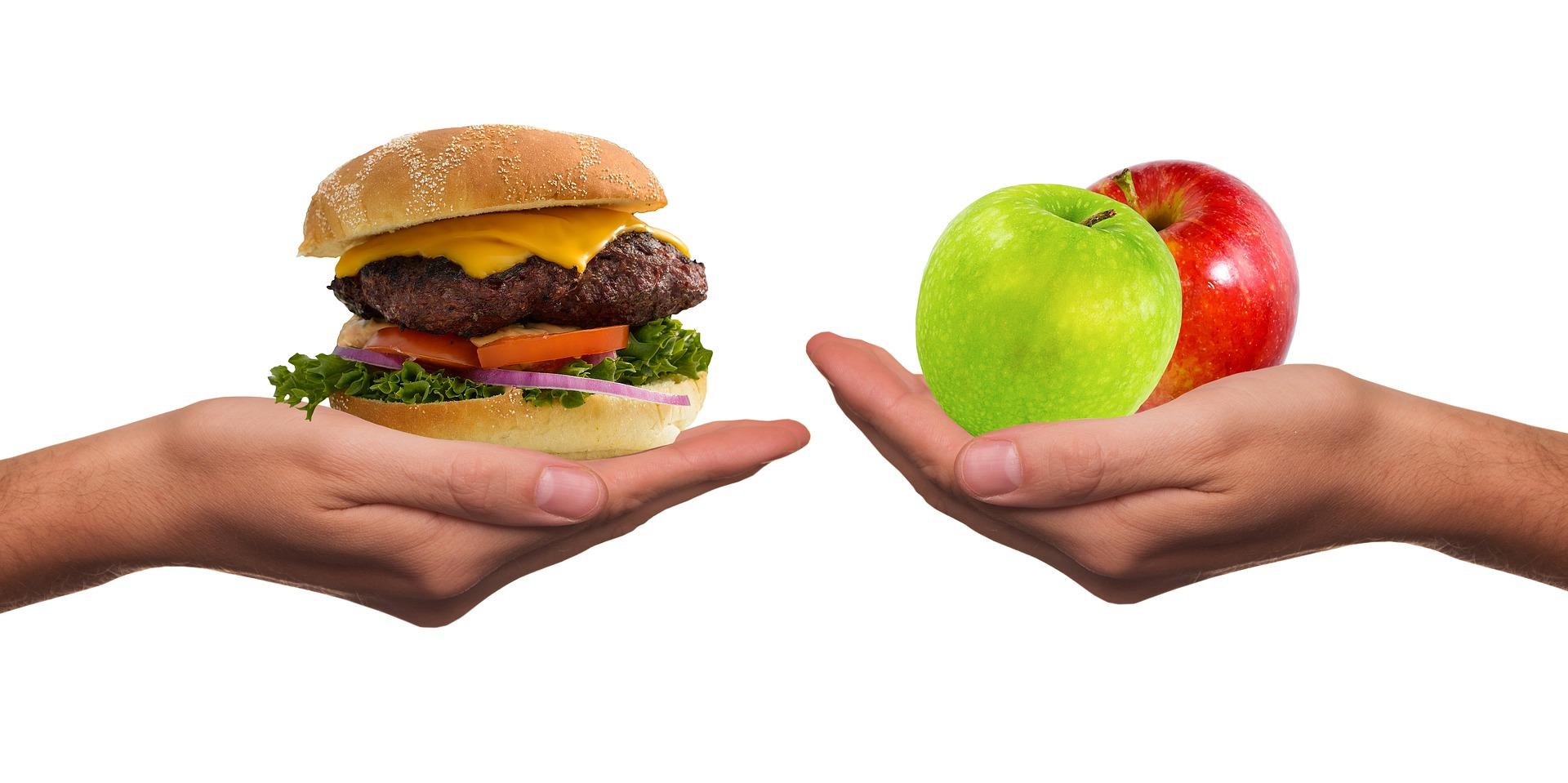 Apfel-vs-Burger